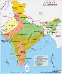 Map of india showing all five seismic zones of india. India Climate Climate Map Of India And Climatic Regions Map