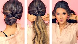 1 Min Everyday Hairstyles For Work With Puff Easy Braids Updo For Long Medium Hair