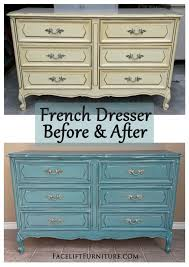 french distressed furniture. sea blue french dresser u0026 chest before after distressed furniture n