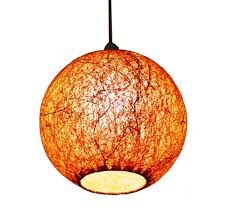 orange hanging ball lamp shades yarn with banana fiber