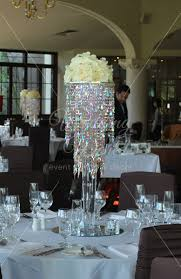 mocha crystal chandelier with silks