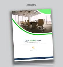 Corporate Report Design Template In Microsoft Word Used To