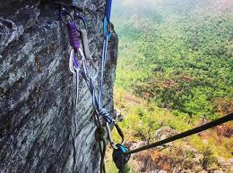 building a top anchor on a multi pitch climb requires a good knowledge of gear placement loading systems directional forces and fall factors
