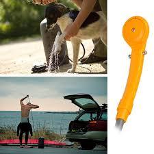 weksi 12v camping hiking travel car pet shower spa wash kit