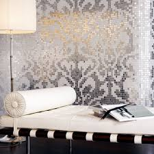 silver and cream mirrored glass mosaic tile murals frosted crystal collages backsplash mirror tile puzzle wall