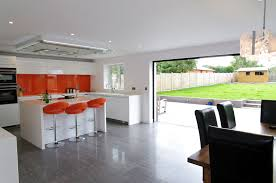 White Gloss Kitchen Orange And White Gloss Kitchen Ptc Kitchens