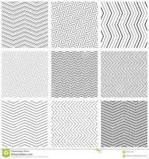 Simple Patterns Mesmerizing Zigzag Seamless Pattern Set Vector Zig Zag Black Simple Line
