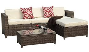 patio furniture clearance. Patioroma 5pc Outdoor Wicker Rattan Sectional Patio Furniture Clearance Sales