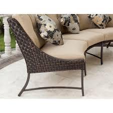 outdoor sectional metal. Savannah Metal And Woven Deep Seating Outdoor Sectional Sofa Set, Seats 3 - Walmart.com D