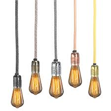 cable pendant lighting. 3 Meter E27 Core Wire Vintage Edison Lampholder Fabric Flexible Cable Pendant Lamp Light Bulb Holder Socket-in Bases From Lights \u0026 Lighting On L