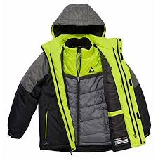 Gerry Size Chart Gerry Boys 3 In 1 Systems All Weather Jacket With Beanie Small