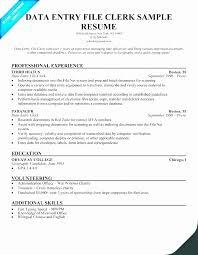 Index Clerk Sample Resume Best Payroll Clerk Resume Samples New Data Entry Resume Data Entry