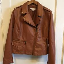women s new york company large leather jacket