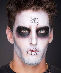 easy spider makeup for with a spider on your face