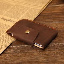 vintage crazy horse genuine leather holder wallet italian leather simple coin wallet with snap id holder case old black leather wallet luxury wallets from
