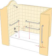 handicap bathtub rail height. where to install grab bars handicap bathtub rail height h