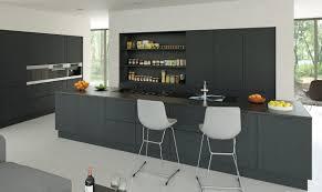 large kitchen island matt black