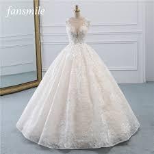 Fansmile New <b>Vestidos de Novia</b> Vintage Ball Gown Tulle Wedding ...