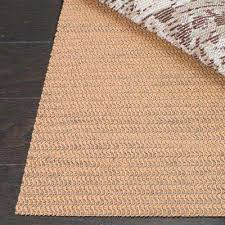 grid beige 4 ft x 6 ft non slip synthetic rubber rug pad