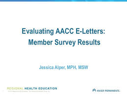 Aacc E Letter Survey Data Analysis Ja