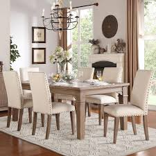 Homelegance Mill Valley Relaxed Vintage Dining Table And Chair Set