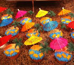 Pin by Deena Walter on Luau cupcakes | Luau theme party, Hawaiian birthday  party, Luau desserts