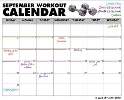 Monthly Workout Schedule Template New Printable Monthly Workout Calendar Calendar 2019