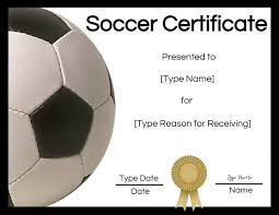 Free Soccer Certificate Templates Soccer Award Certificate Template