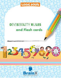 Divisibility Rules Chart For Kids Divisibility Rules And Printable Charts And Flash Cards By