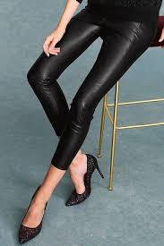 next faux leather leggings tall