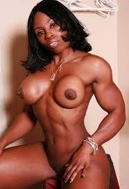 Black muscular nude woman