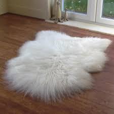 white fur rug. large white icelandic sheepskin rug fur