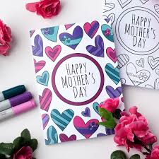 mother day card design free mothers day coloring card sarah renae clark coloring book