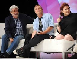 mark hamill carrie fisher harrison ford 2013. Wonderful Mark George Lucas With Mark Hamill And Carrie Fisher Of Star Wars Inside Harrison Ford 2013