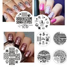 3D Nail Art Gold Peacock Feather Decals Stickers Nails Lace Tip ...