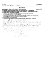 market research analyst resume sample market research analyst resume sample