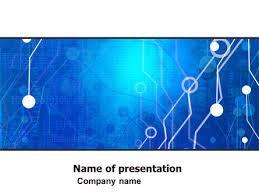 Powerpoint Circuit Theme Radio Circuit Free Presentation Template For Google Slides