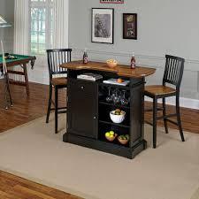 Home Styles Americana 3 Piece Black and Oak Bar Table Set 5003 998