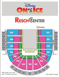 Disney On Ice Seating Chart 2018 Resch Center Tickets And Resch Center Seating Charts Resch