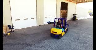 Warehouse Worker Driving Forklift Stock Video Wavebreakmedia