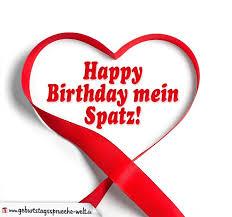 Geburtstagskarte Für Verliebte Happy Birthday Mein Spatz