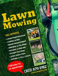 Sample Flyers For Landscaping Business Customize 350 Lawn Service Templates Postermywall