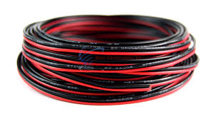 24 gauge 25 039 speaker wire audiopipe red black zip cable 24 gauge 25 speaker wire audiopipe red black zip cable copper clad 12 volt