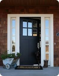black front door with sidelightsBest 25 Black entry doors ideas on Pinterest  Black door runners