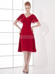 Azariah - V-Ausschnitt knielangen Chiffon Kleid mit Schmetterling ...