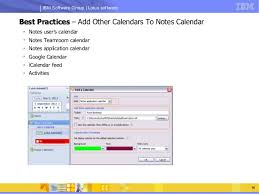 calendars with notes open mic on_ibm lotus notes calendaring scheduling best practices