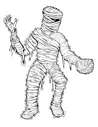 Small Picture Mummy Coloring Pages Printable Halloween Mummy Coloring Pagesjpg