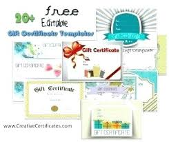 Gift Card Template All Certificate Templates Free And Can Be