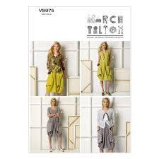Marcy Tilton Patterns Fascinating Vogue Sewing Pattern V48 Misses' Dress Jacket By Marcy Tilton