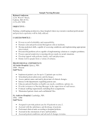Sample Resume For Rn Free Resumes Tips
